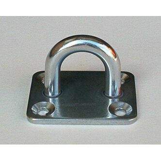 Barrier Rope Stainless Steel Eye Plate 40MM X 50MM