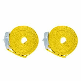 Two x 1.5 metre Cam Buckle Lashing/Tie Down Straps for Carriers Luggage Cargo