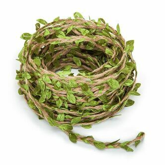 Artificial Leaf Vine Intertwined with Natural Jute - 20M